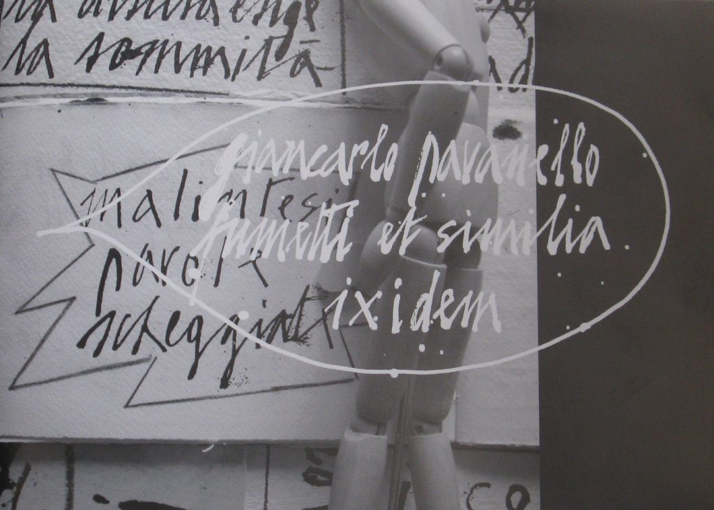 """fumetti et similia, ixidem, 2010 [con """"svestire gli ignudi"""", prima e seconda sequenza] [500 copie] [pp. 28 n.n., cm 15,1x21] [disegni, poesia visiva, prosa, fumetto: 1961-2009]"""