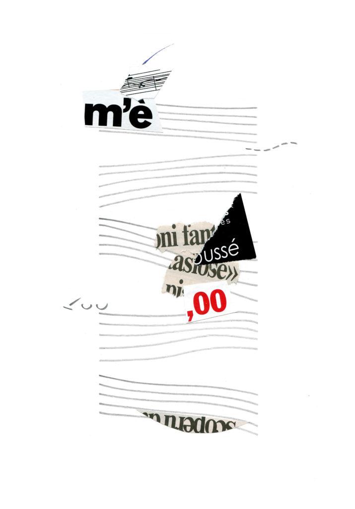 collage e matita su carta cm 32,9x22,8 - 2012