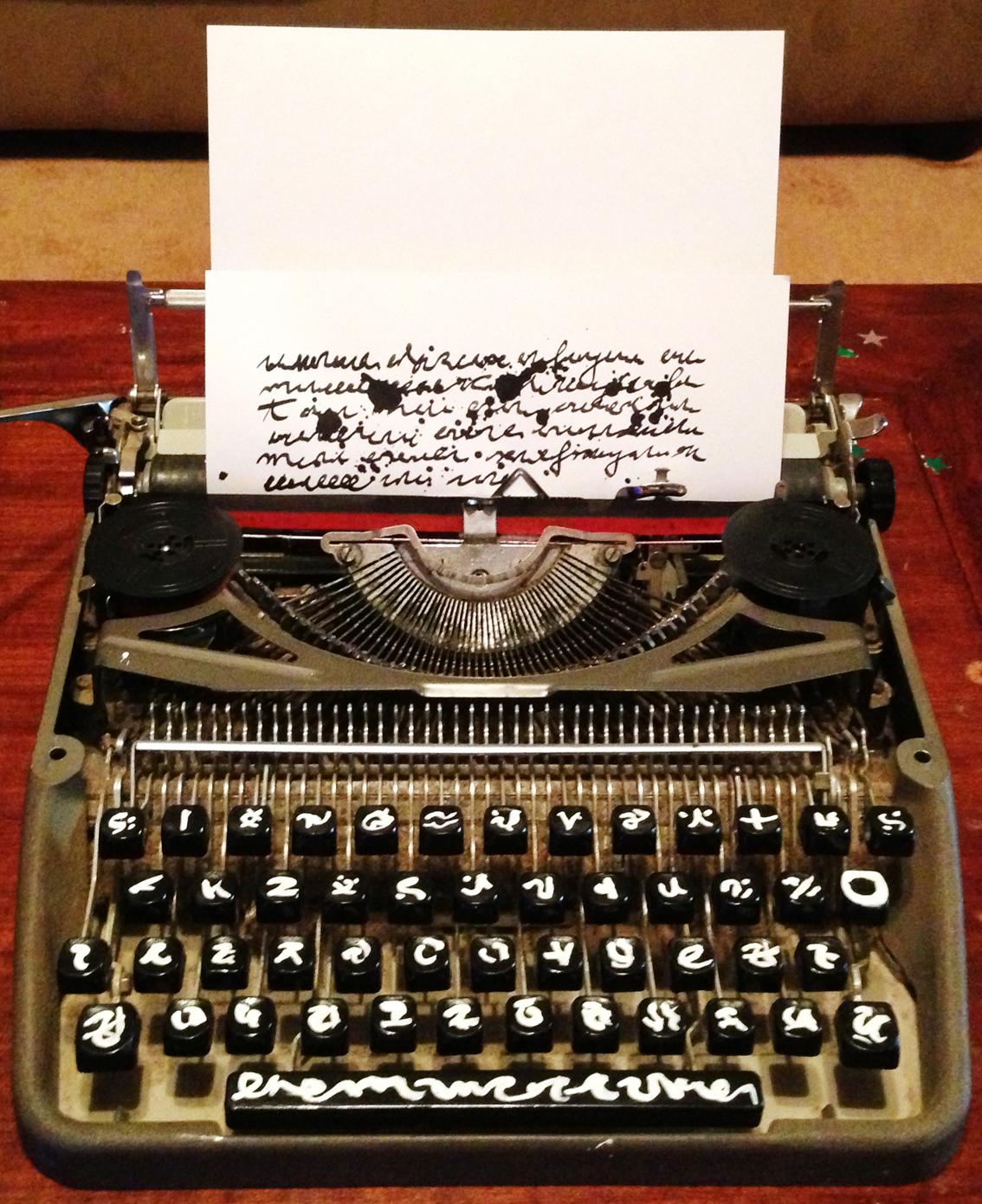 11 - Charles Olson's Typewriter