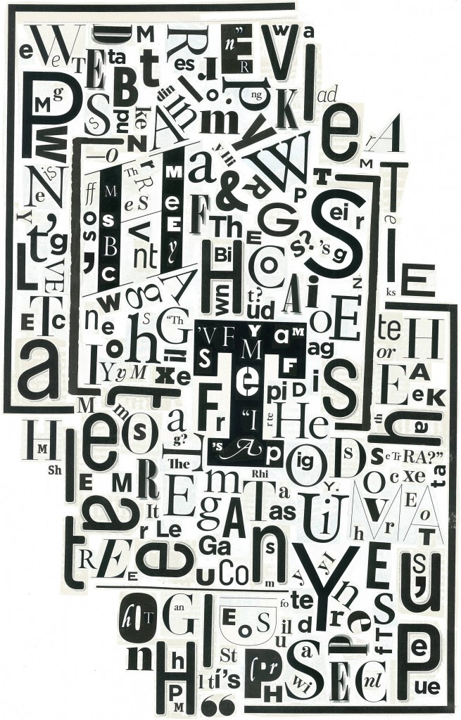 letter collage for pete spence