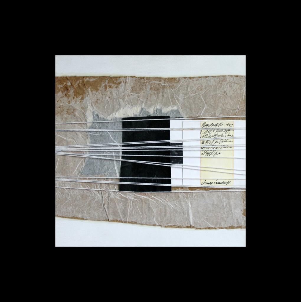 laura scaringi-collage dopo il nero-tecnica collage su tela 2012 misure 60x60