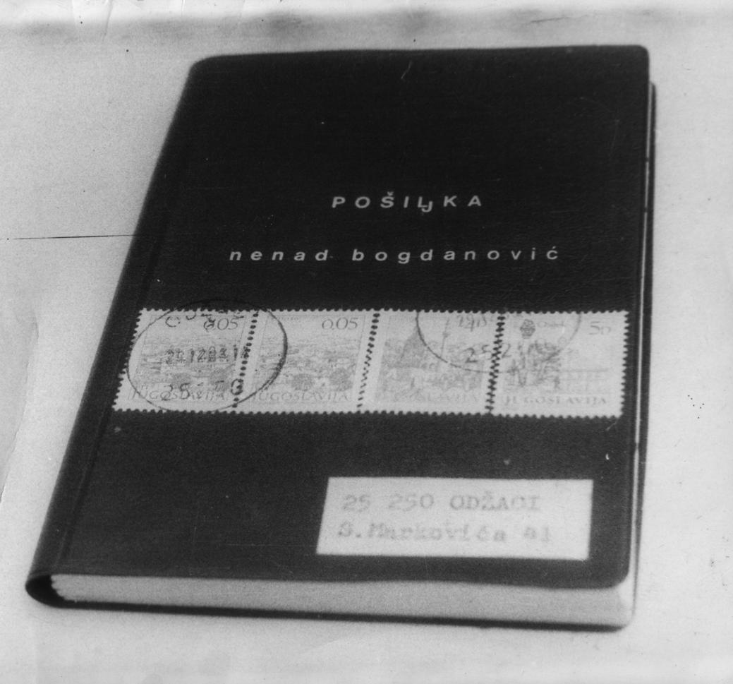 'Book - Consignment', mail art object, 1982