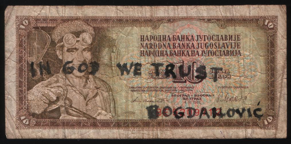 'In god we trust', 1982