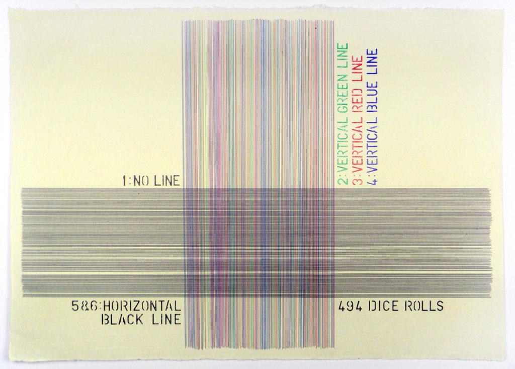 Vincenzo Merola - 494 Dice Rolls (Horiziontal Black)